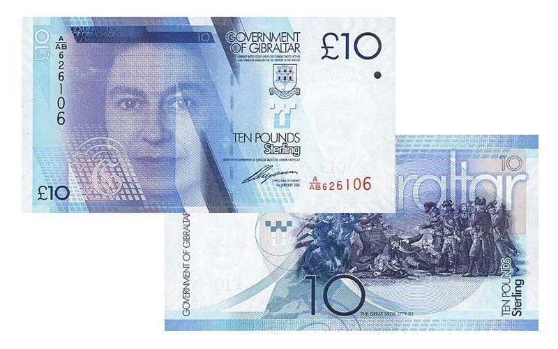 Banknote: 10 Gibraltar-Pfund