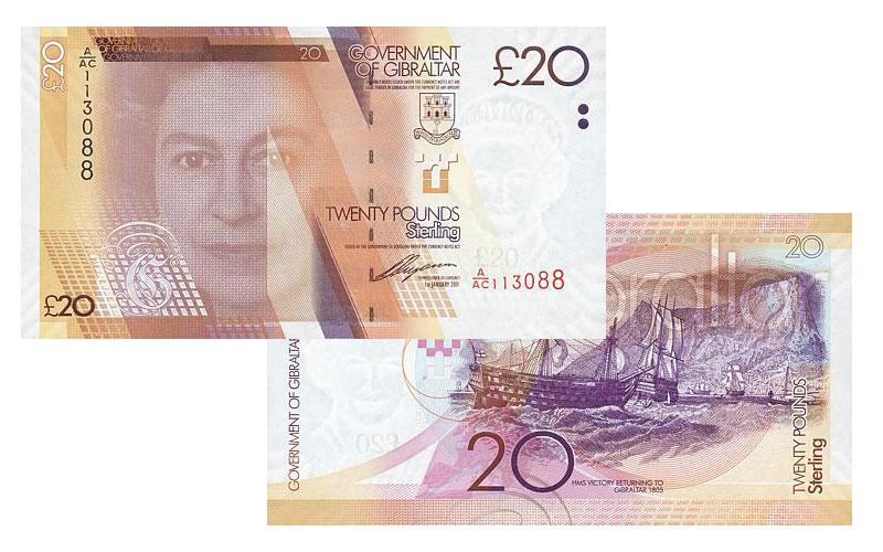 Banknote: 20 Gibraltar-Pfund