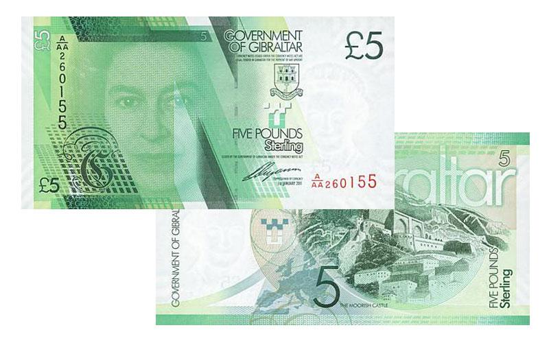 Banknote: 5 Gibraltar-Pfund