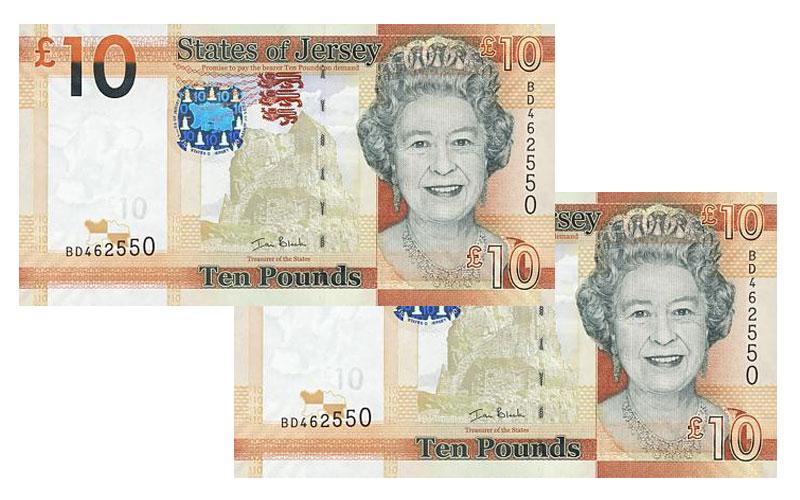 """Banknote: 10 """"Jersey-Pfund"""""""