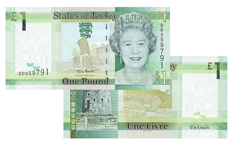 """Banknote: 1 """"Jersey-Pfund"""""""
