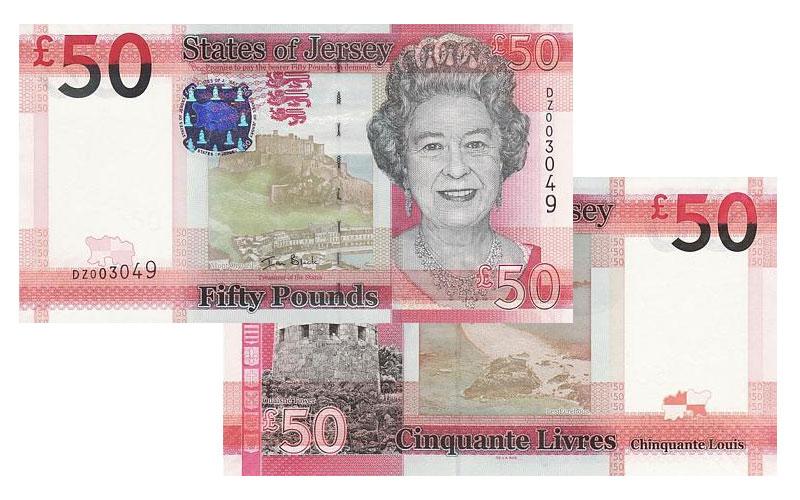 """Banknote: 50 """"Jersey-Pfund"""""""