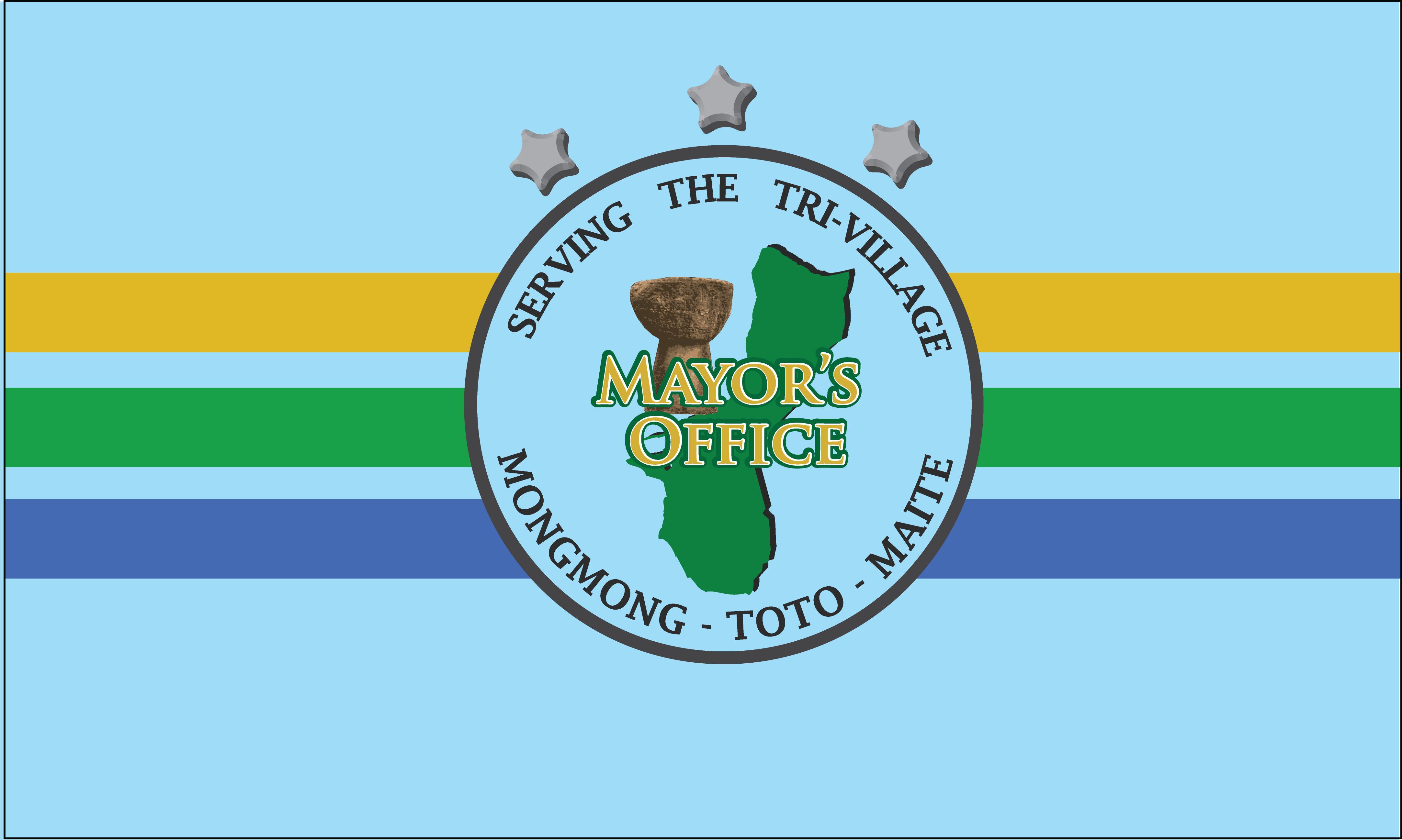 Flagge: Mongmong-Toto-Maite/ Mongmong-To'to'-Maite bzw. Mongmong-Toto-Maite (inoffiziell)