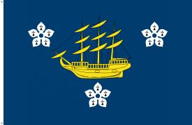 Flagge: Hamilton-Stadt [City of Hamilton (Kurzform: Hamilton)/tahn bzw. tawn]
