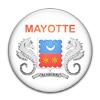 Plakette als Ersatz für eine Flagge bei den Spielen der Inseln im Indischen Ozean: Mayotte