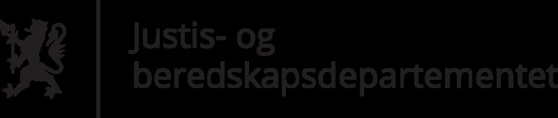 Standardlogo: norwegisches Justiz- und Bereitschaftsministerium