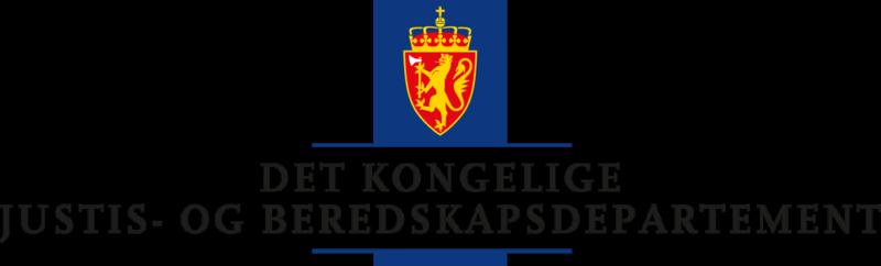 formelles Logo: norwegisches Justiz- und Bereitschaftsministerium