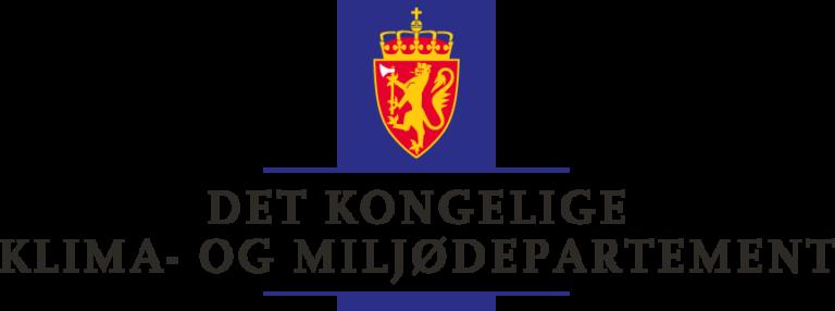 formelles Logo: norwegisches Ministerium für Klima und Umwelt