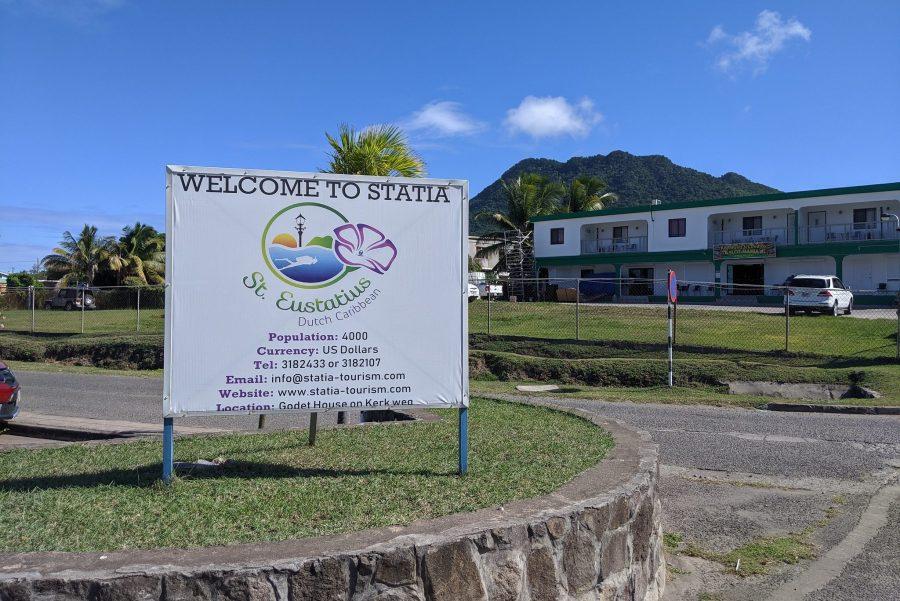 Bild: Willkommensschild auf Sint Eustatius