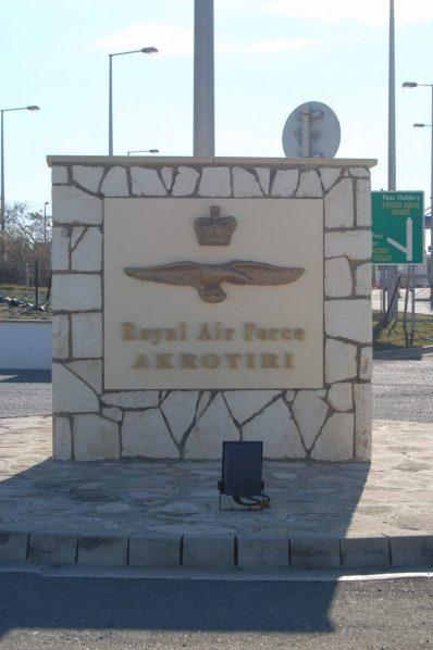 Bild: Eingangsschild in Akrotiri