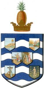 Wappen: Leeward-Inseln 1909-1956/1958