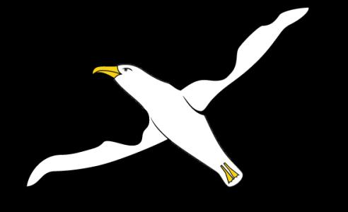 Detailansicht des Flaggenbadges: Midway Atoll