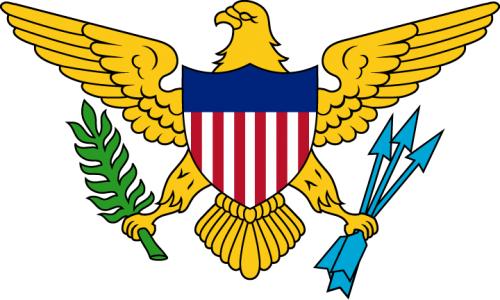 Detailansicht des Flaggenbadges: Amerikanische Jungfern-Inseln