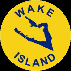 Detailansicht des Flaggenbadges: Wake Atoll