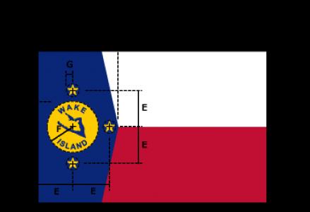 Flaggenspezifikation: Wake Atoll