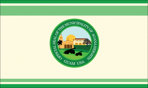 Flagge: Agaña Heights bzw. Agana Heights/Tutuhan