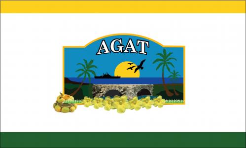 Flagge: Agat/Hågat bzw. Hagat (inoffiziell)