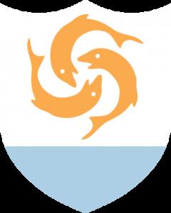 Detailansicht des Flaggenbadge (s. Wappen): Anguilla