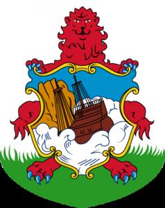 Detailansicht des Flaggenbadge (s. Wappen): Bermuda