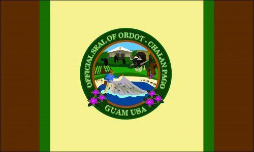 Flagge: Chalan Pago-Ordot/Chalan Pågo-Otdot bzw. Chalan Pago-Otdot