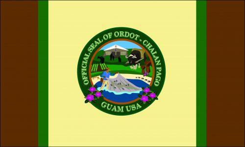 Flagge: Chalan Pago-Ordot/Chalan Pågo-Otdot bzw. Chalan Pago-Otdot (inoffiziell)