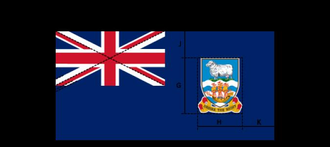 Flaggenspezifikation: Falkland-Inseln