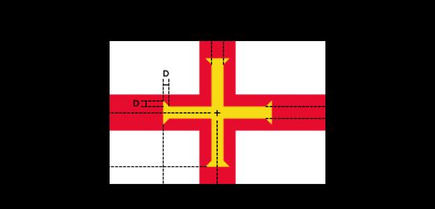 Flaggenspezifikation 29: Guernsey