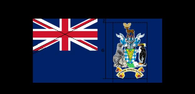 Flaggenspezifikation : Südgeorgien und Südsandwich-Inseln