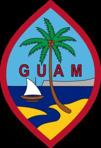 Detailansicht des Flaggenbadges: Guam