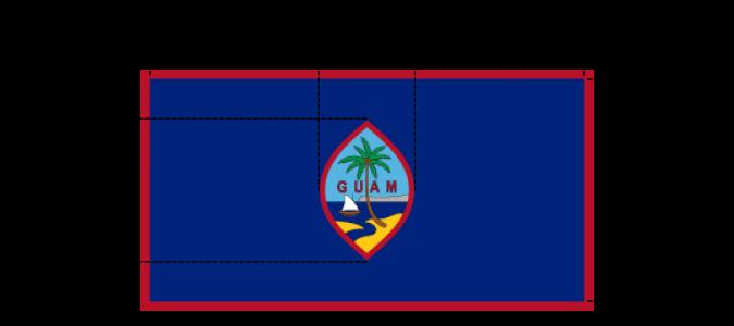 Flaggenspezifikation Guam