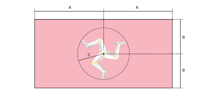 Flaggenspezifikation: Insel Man (# 1)