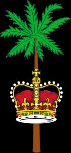 Detailansicht des Flaggenbadges: Britisches Territorium im Indischen Ozean