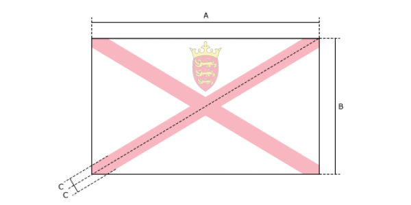 Flaggenspezifikation: Jersey