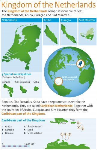 Karte: Königreich der Niederlande
