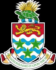 Detailansicht des Flaggenbadges (s. Wappen: Cayman-Inseln