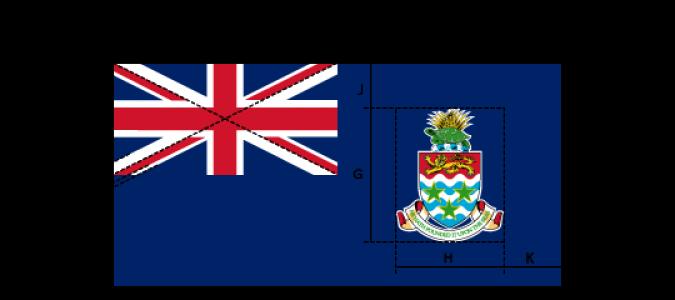 Flaggenspezifikation: Cayman-Inseln