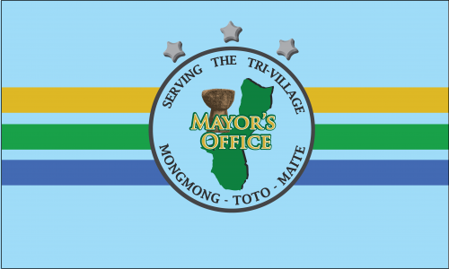 Flagge: Mongmong-Toto-Maite/ Mongmong-To'to'-Maite bzw. Mongmong-Toto-Maite