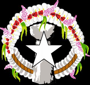 Detailansicht des Flaggenbadges: Nördliche Marianen
