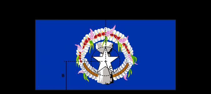 Flaggenspezifikation: Nördliche Marianen