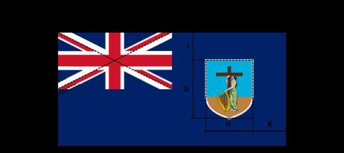 Flaggenspezifikation: Montserrat