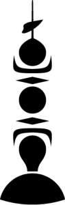 Detailansicht des Flaggenbadges: Neukaledonien