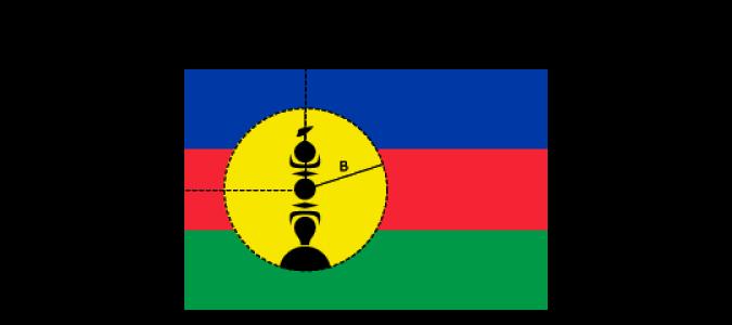 Flaggenspezifikation: Neukaledonien