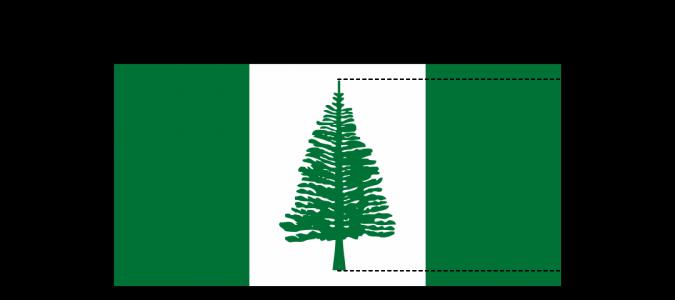 Flaggenspezifikation: Norfolk-Insel