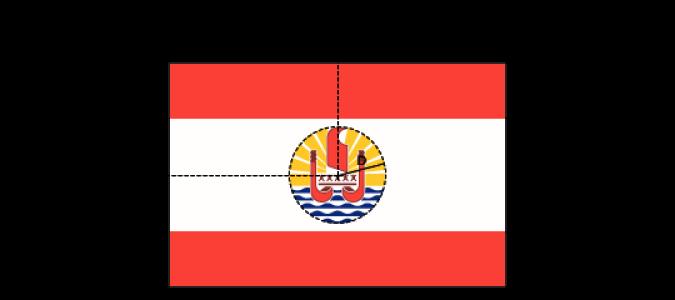 Flaggenspezifikation: Französisch-Polynesien (# 1)