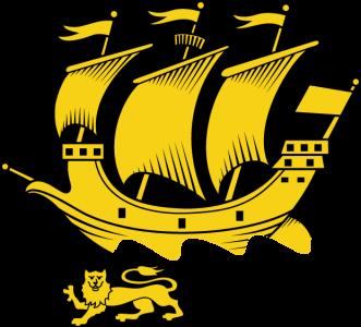 Detailansicht des Flaggenbadges: Saint-Pierre und Miquelon