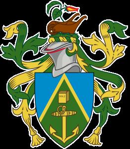 Detailansicht des Flaggenbadges (s. Wappen): Pitcairn-Inseln