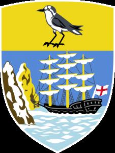 Detailansicht des Flaggenbadges: Sankt Helena