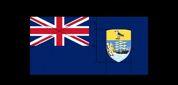 Flaggenspezifikation: Sankt Helena