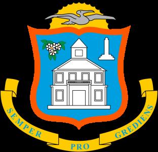Detailansicht des Flaggenbadges: Sint Maarten