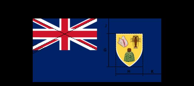 Flaggenspezifikation: Turks- und Caicos-Inseln